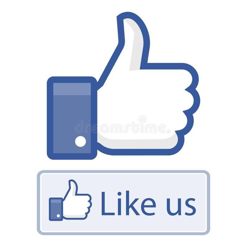 Like Us On Facebook Thumbs Up Vector Illustration Of Like Us Hand