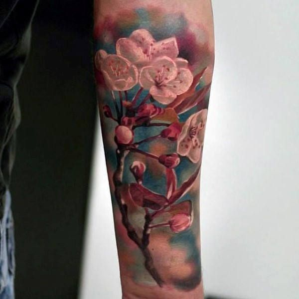 100 Cherry Blossom Tattoo Designs For Men Floral Ink Ideas Cherry Blossom Tattoo Flower Tattoo Shoulder Flower Tattoo Drawings