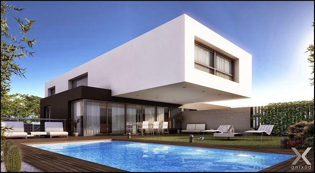 fachadas de casas modernas u casas sem telhado