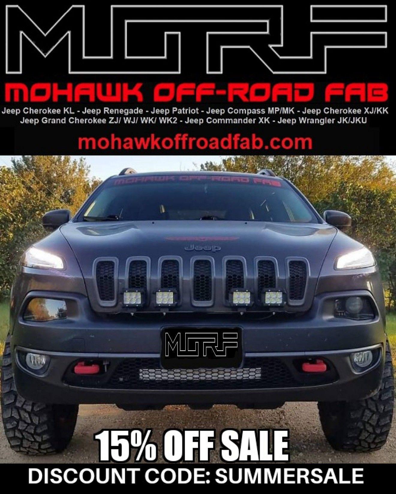Pin By Mohawk Off Road Fab On Jeep Cherokee Kl Trailhawk Pod Light Bar Bracket Mounts Jeep Commander Jeep Grand Cherokee Zj Jeep Patriot