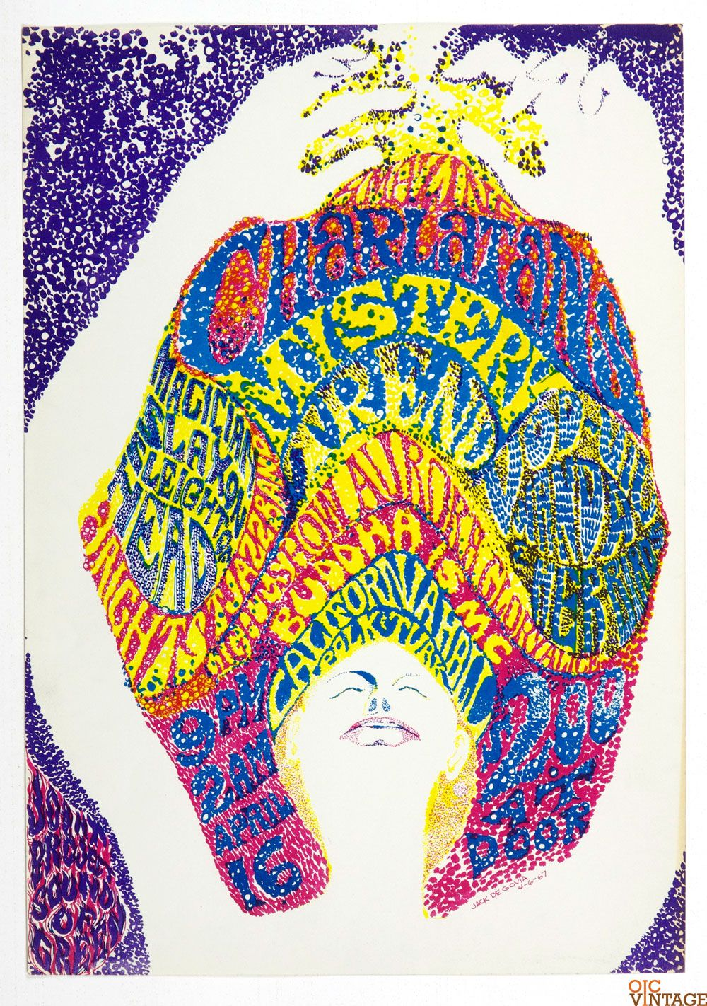 California Hall Poster AOR 2.159 Charlatans 1967 Apr 16