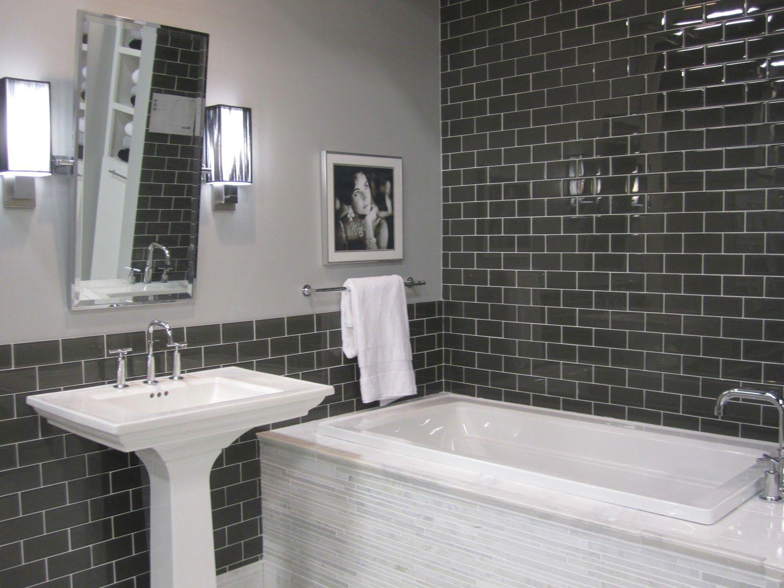 Glass subway tile Bathroom Pinterest Subway tiles Glass and
