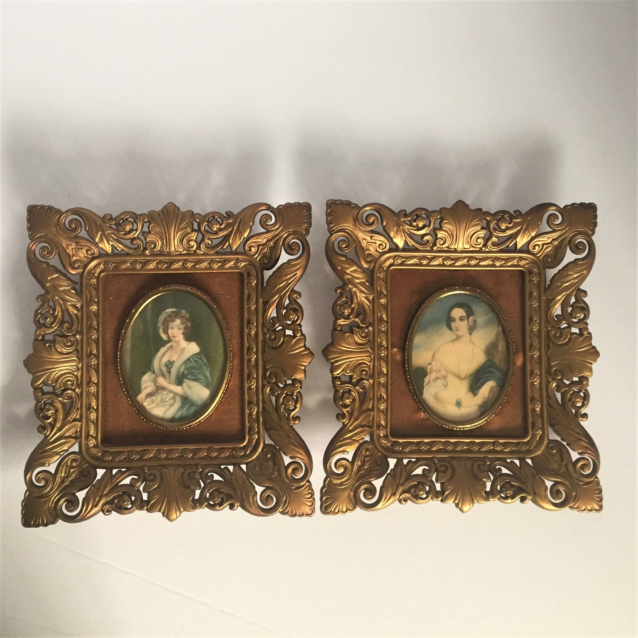 vintage cameo wall decor ladies portrait framed gold ornate wall decor vintage decorative 1800s portraits Cameo & vintage cameo wall decor ladies portrait framed gold ornate wall ...
