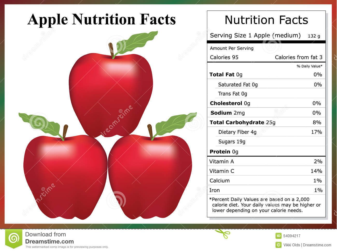 Apple Nutrition Facts Stock Vector Illustration Of Sweet 54094217 Apple Nutrition Facts Nutrition Facts Nutrition Facts Healthy Eating