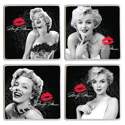 Vandor Marilyn Monroe  4 Piece Coaster Set