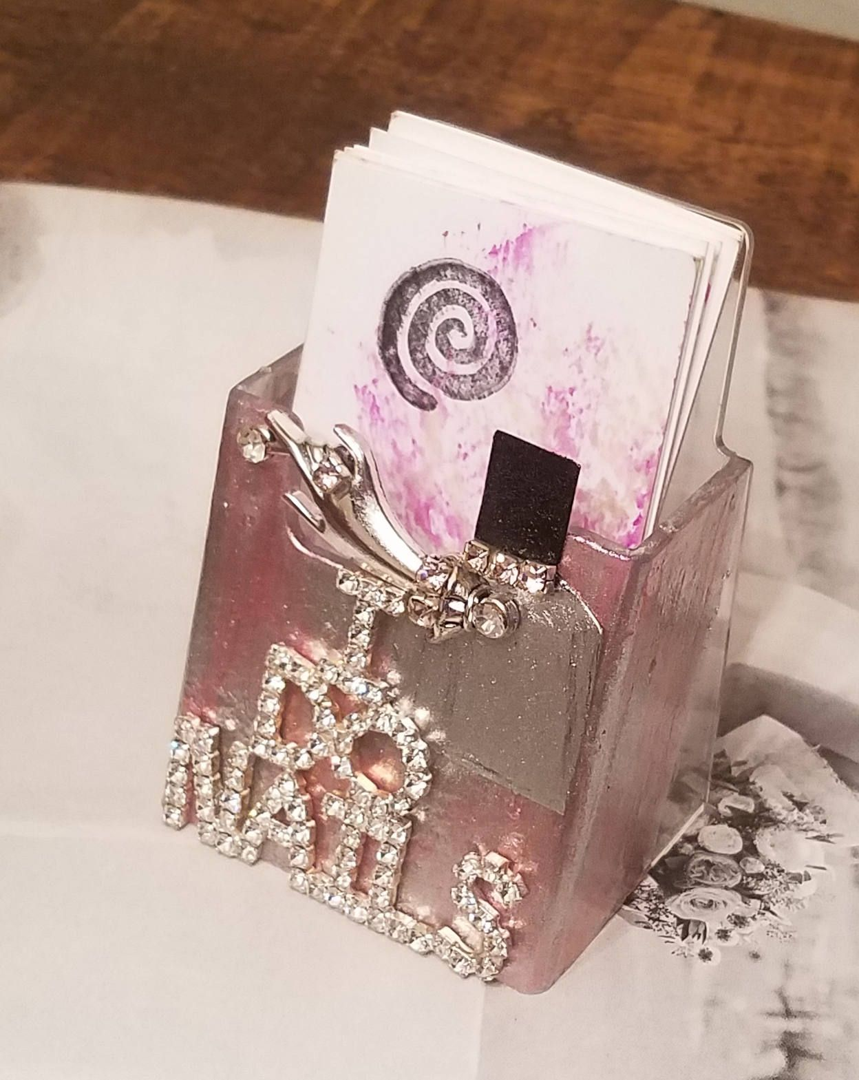 Nail Tech/ Vertical Business Card Holder/I Do Nails