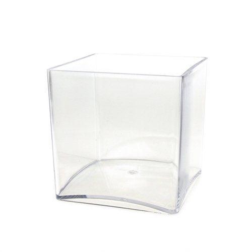 Homeford Fbb00vasq555 Clear Acrylic Cube Vase Display 5 X 5
