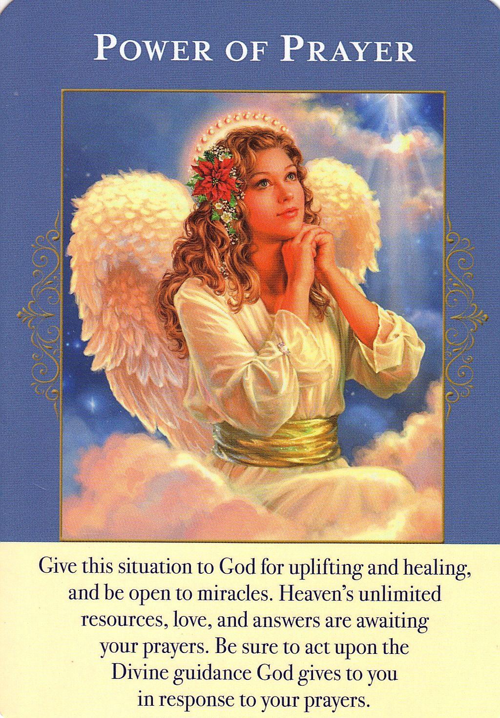 Power Of Prayer Angel Cards Angel Tarot Cards Prayers