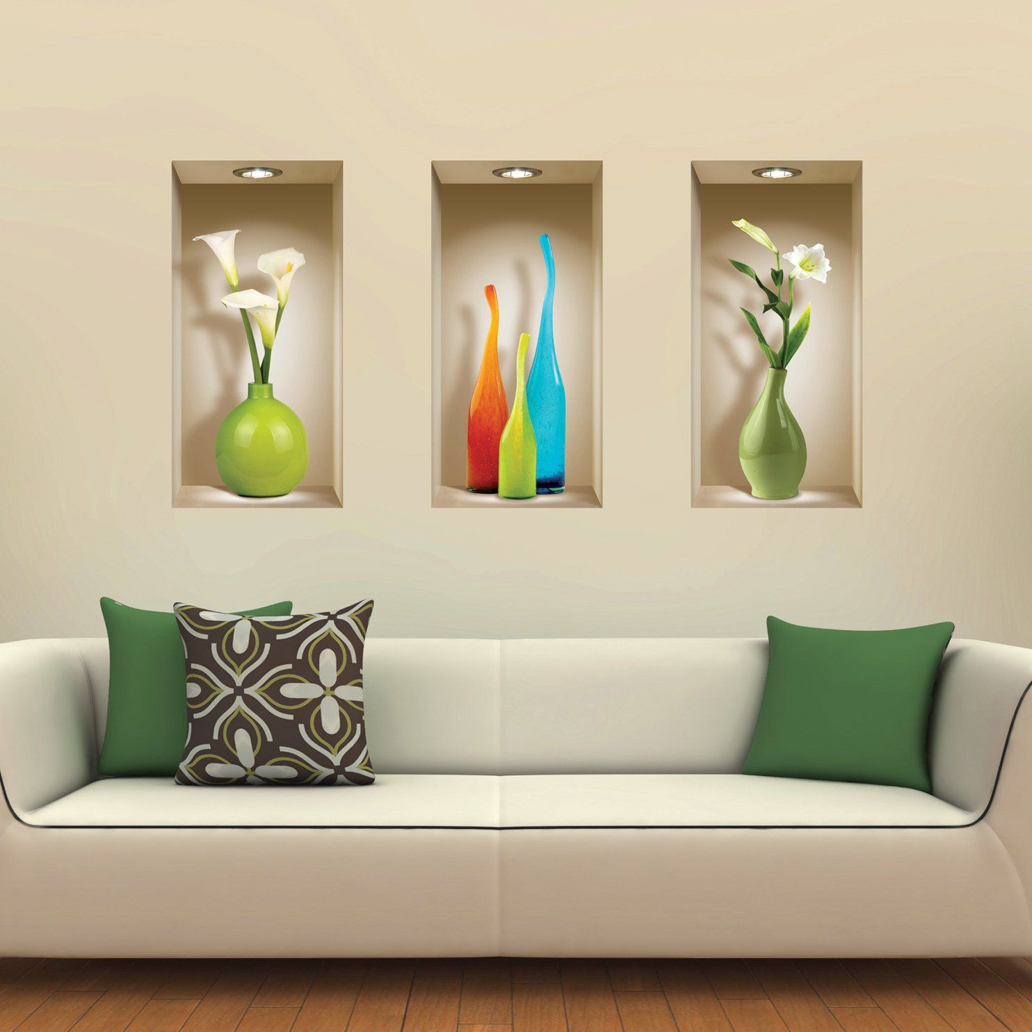 13 of the most stunning illuminated wall niches to enjoy daily set 3 art wall sticker decals picture removable home decor vinyl tile mural amipublicfo Gallery