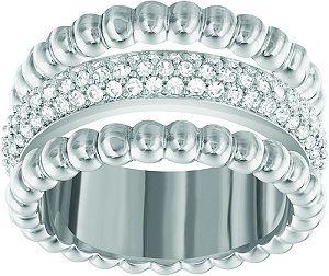 326b2f523 Swarovski Crystal Click Ring Rhodium Plated The rhodium-plated metal option  of the Swarovski Crystal Click Ring, this design was crafted in order to  create ...