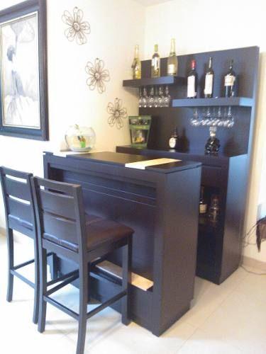 Cantina con barra minimalista de plasencia mobiliario for Decoracion del hogar contemporaneo