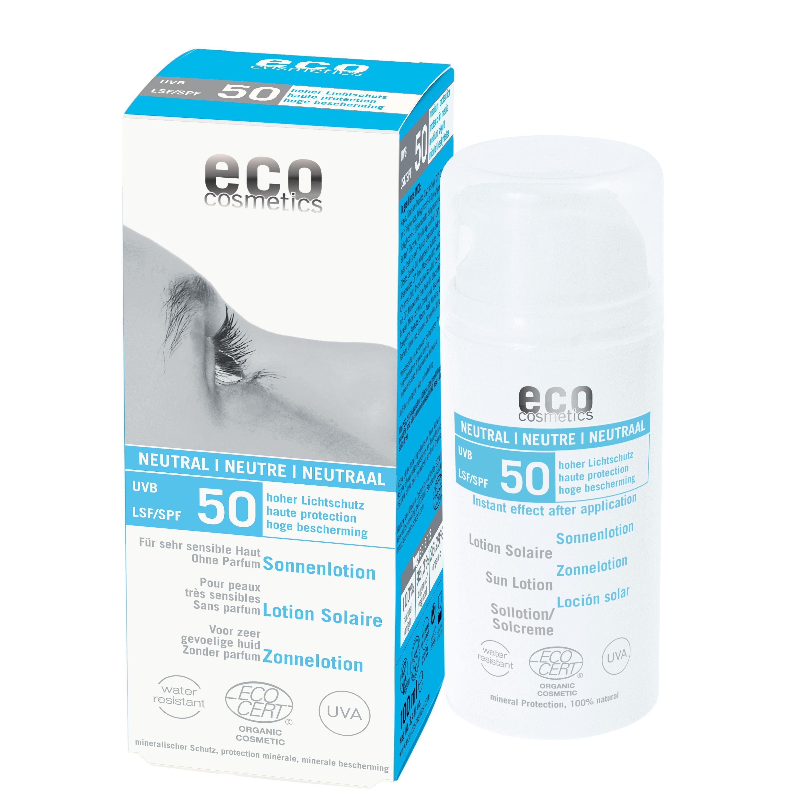 Eco Sun Lotion Neutral Spf 50 Without Perfum Eco Cosmetics Lotion Sonnenschutzmittel Lichtschutzfaktor