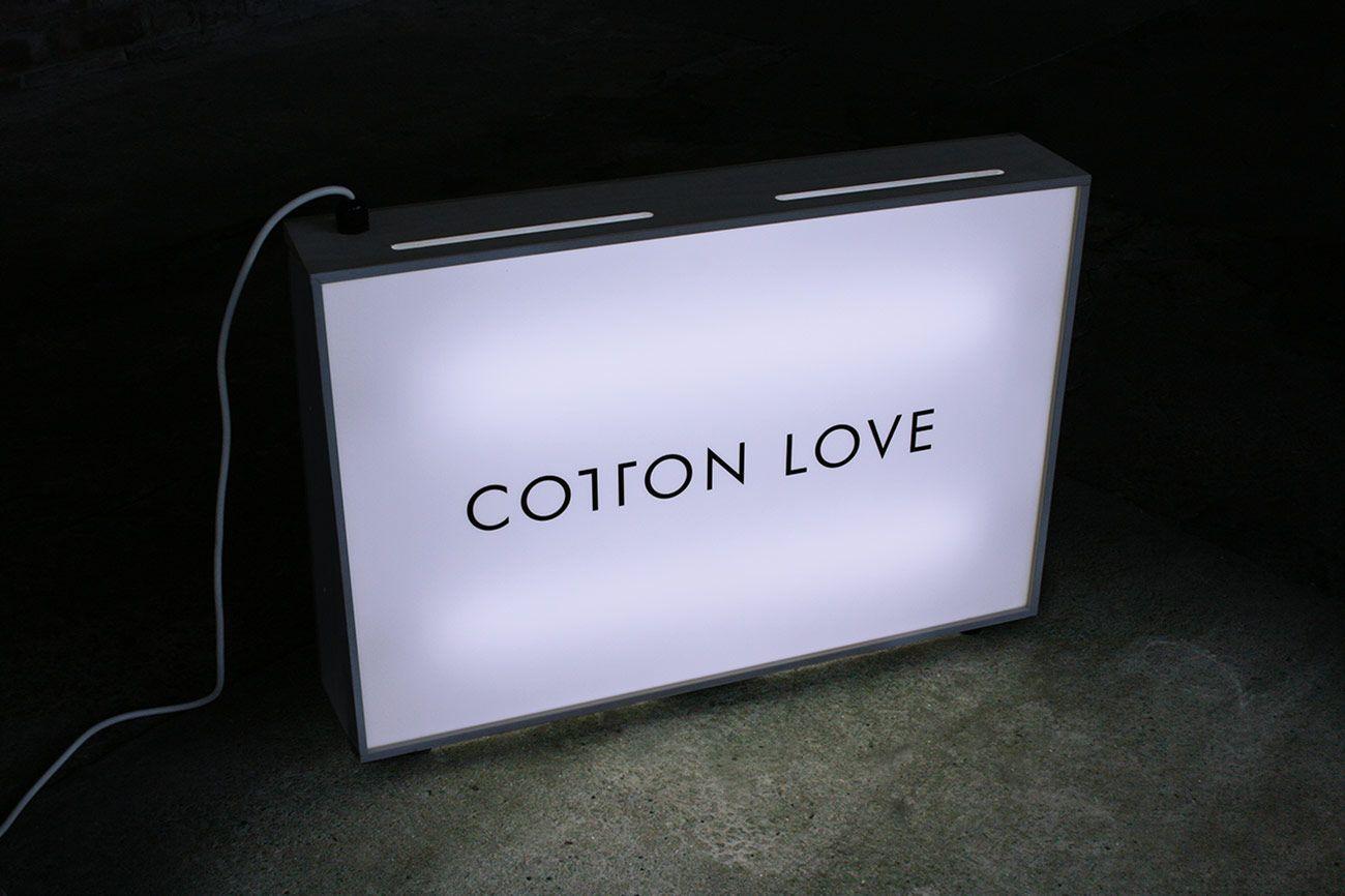 Founded : Cotton Love - Lightbox | Type | Pinterest | Lightbox ... for Light Box Branding  587fsj