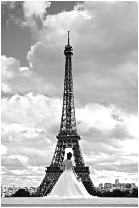 """If you are getting married in Paris, this is a gorgeous """"must do"""" picture!"""