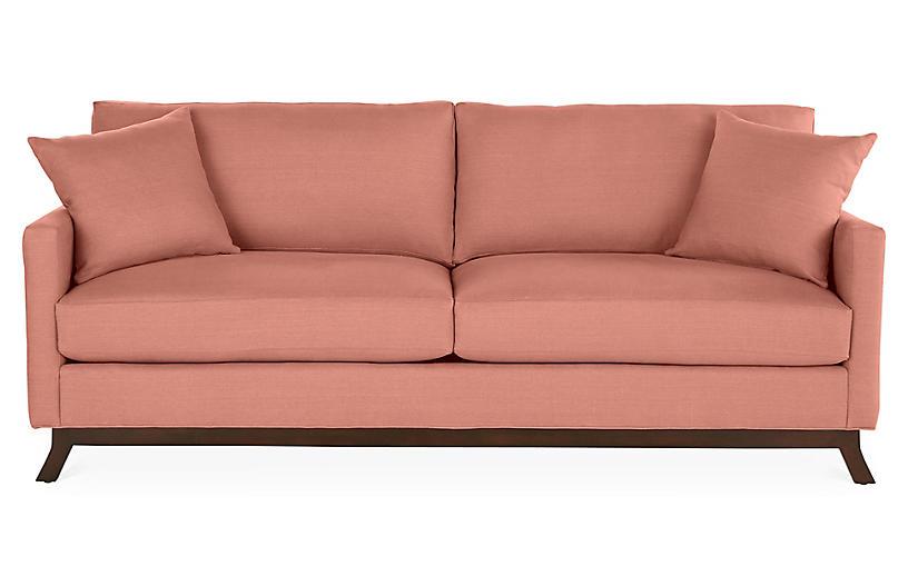 Edwards Sofa Rose Linen Miles Talbott Linen Sofa Sofa