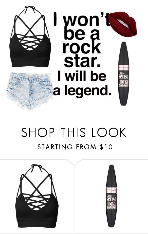 """Outfit 115"" by sarahcb2002 on Polyvore featuring Maybelline and Lime Crime"