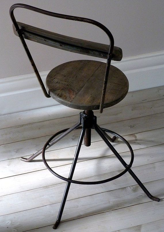 Interiors · Vintage Industrial Work Chair ...