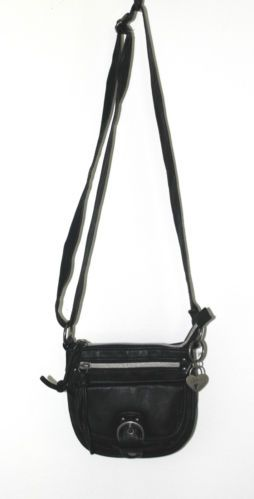 American Rag Handbag Crossbody Black Faux Leather Small Mini Vegan Purse Bag