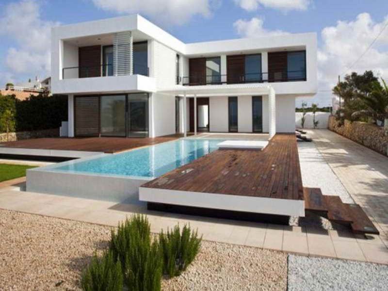 small contemporary house plans with outdoor pool house plans