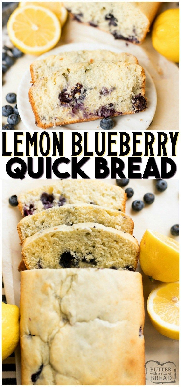 5e3d11fc65ba Lemon Blueberry Quick Bread is a deliciously moist and fresh quick bread  recipe loaded with blueberries