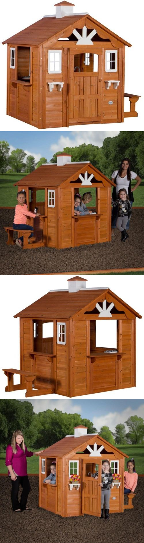 permanent playhouses 145995 kids backyard discovery summer