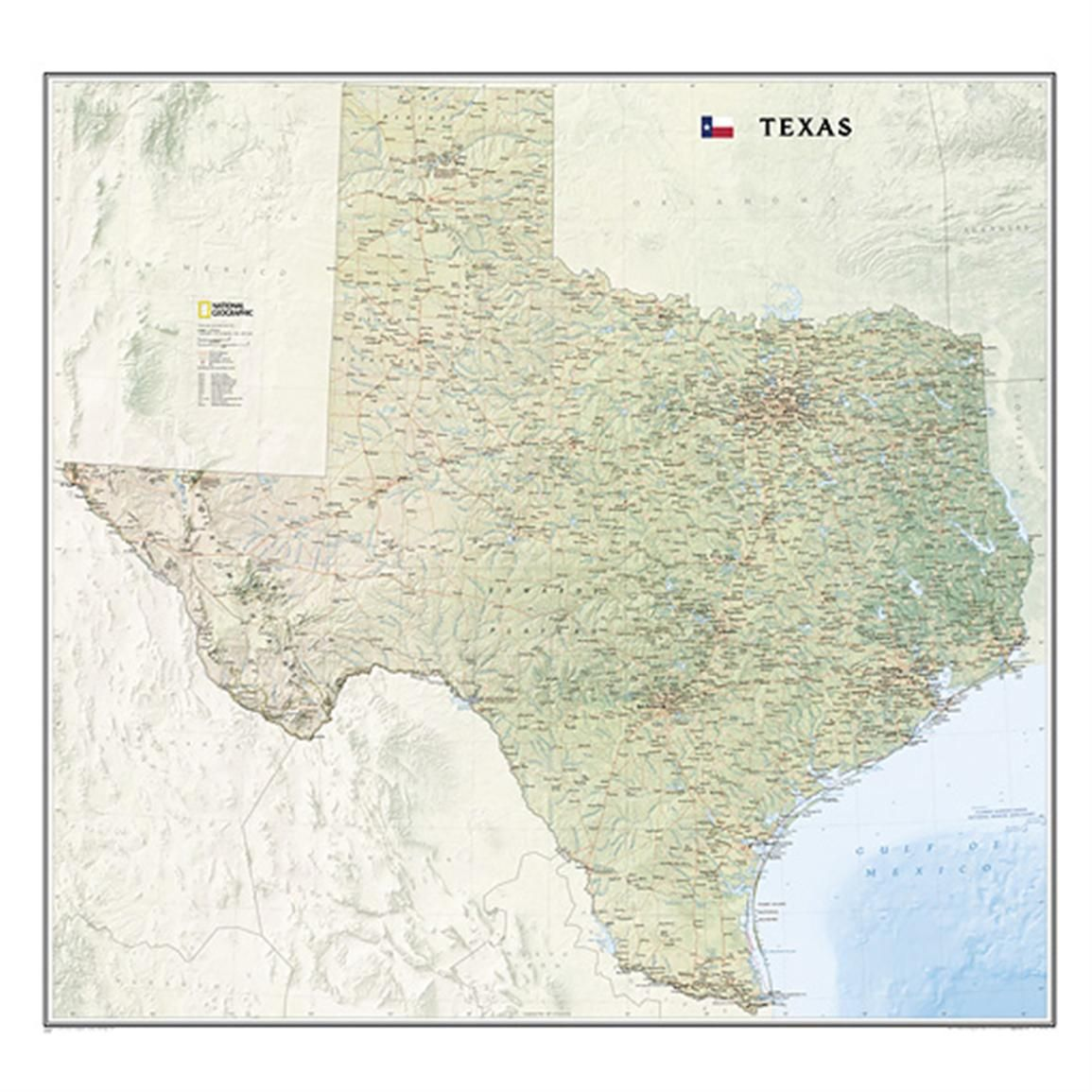 National Geographic™ Texas Wall Map odd balls Pinterest