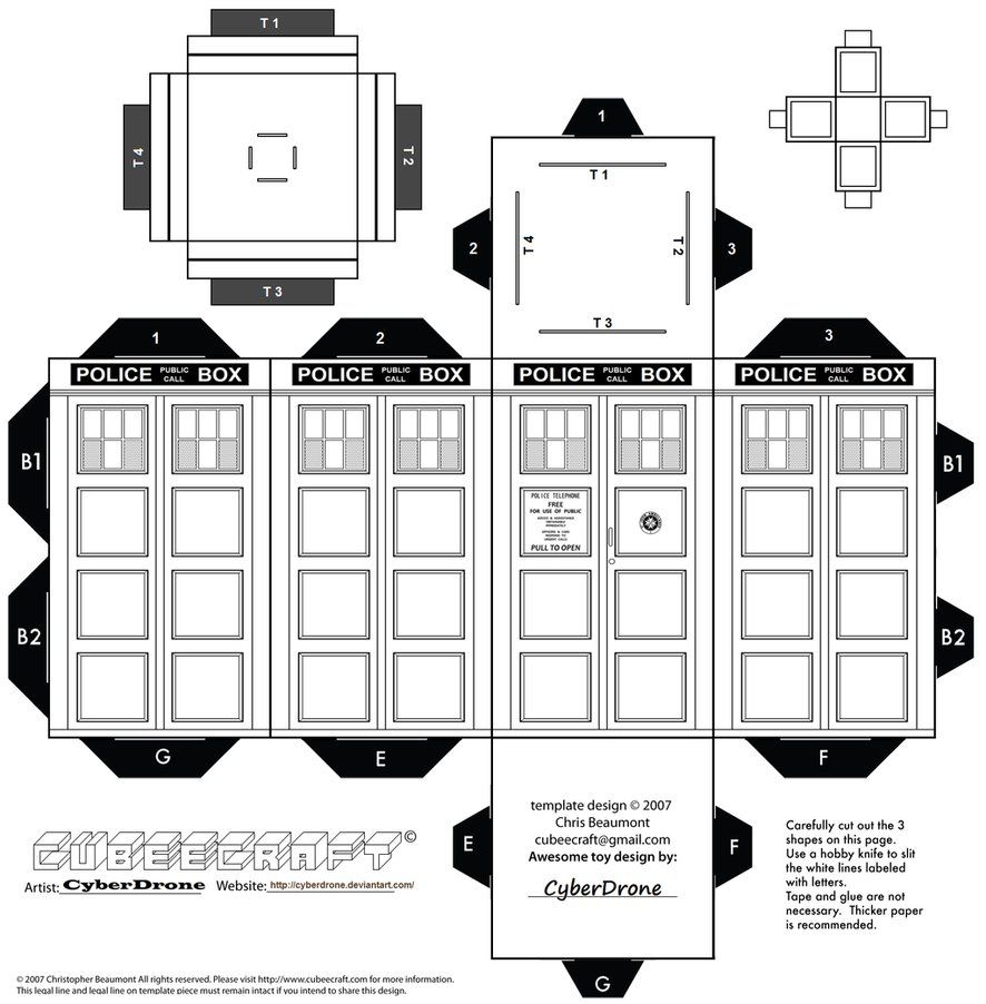 CyberDrone offers printable templates for many Whovian paper ...