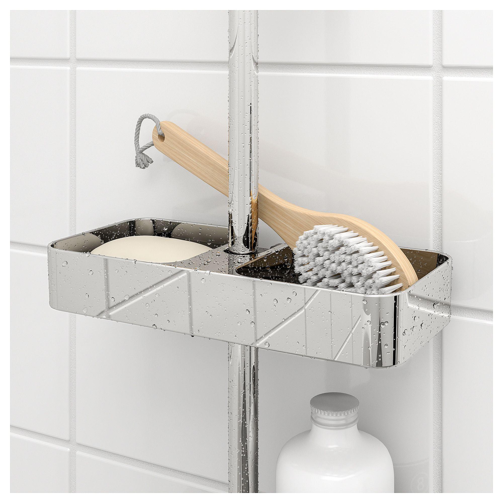 Ikea Brogrund Shower Shelf Chrome Plated Ballagawne En