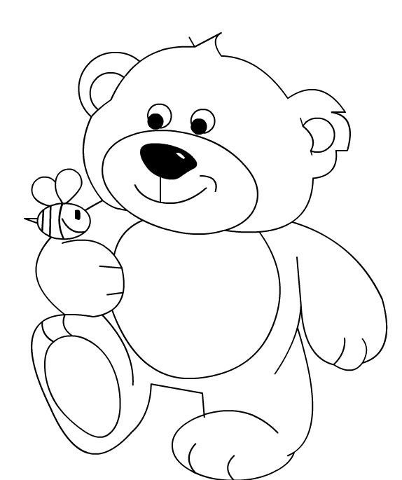 100 Preschool Activities In 2020 Bear Coloring Pages Teddy Bear Coloring Pages Art Drawings For Kids
