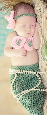Baby Mermaid...totally doing this since we're such beach bums and the hubby surfs!