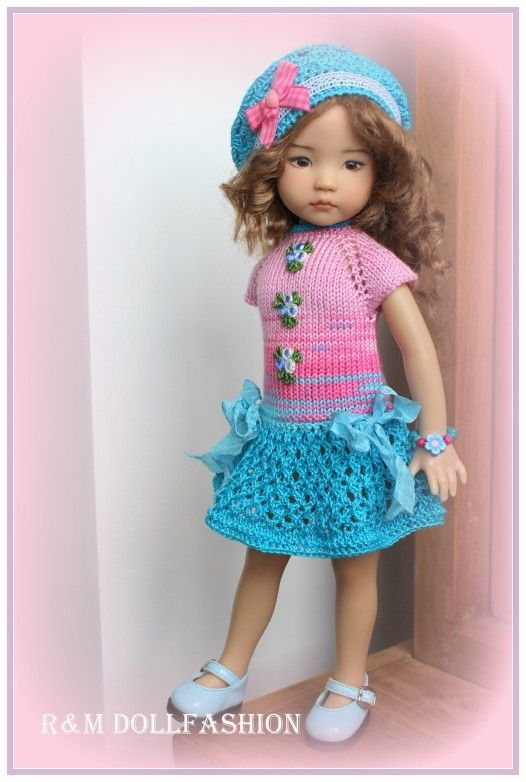 "R&M DOLLFASHION-BRIGHT LINE OOAK outfit for Effner LITTLE DARLING 13"" doll"