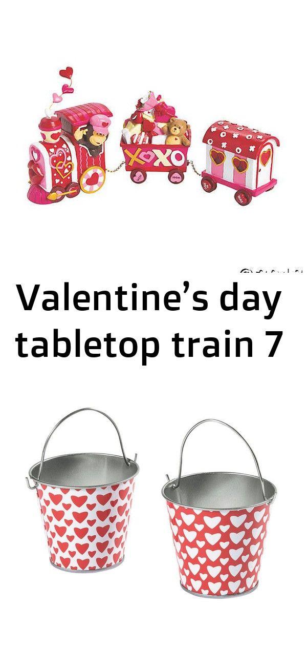 Valentine's day tabletop train 7