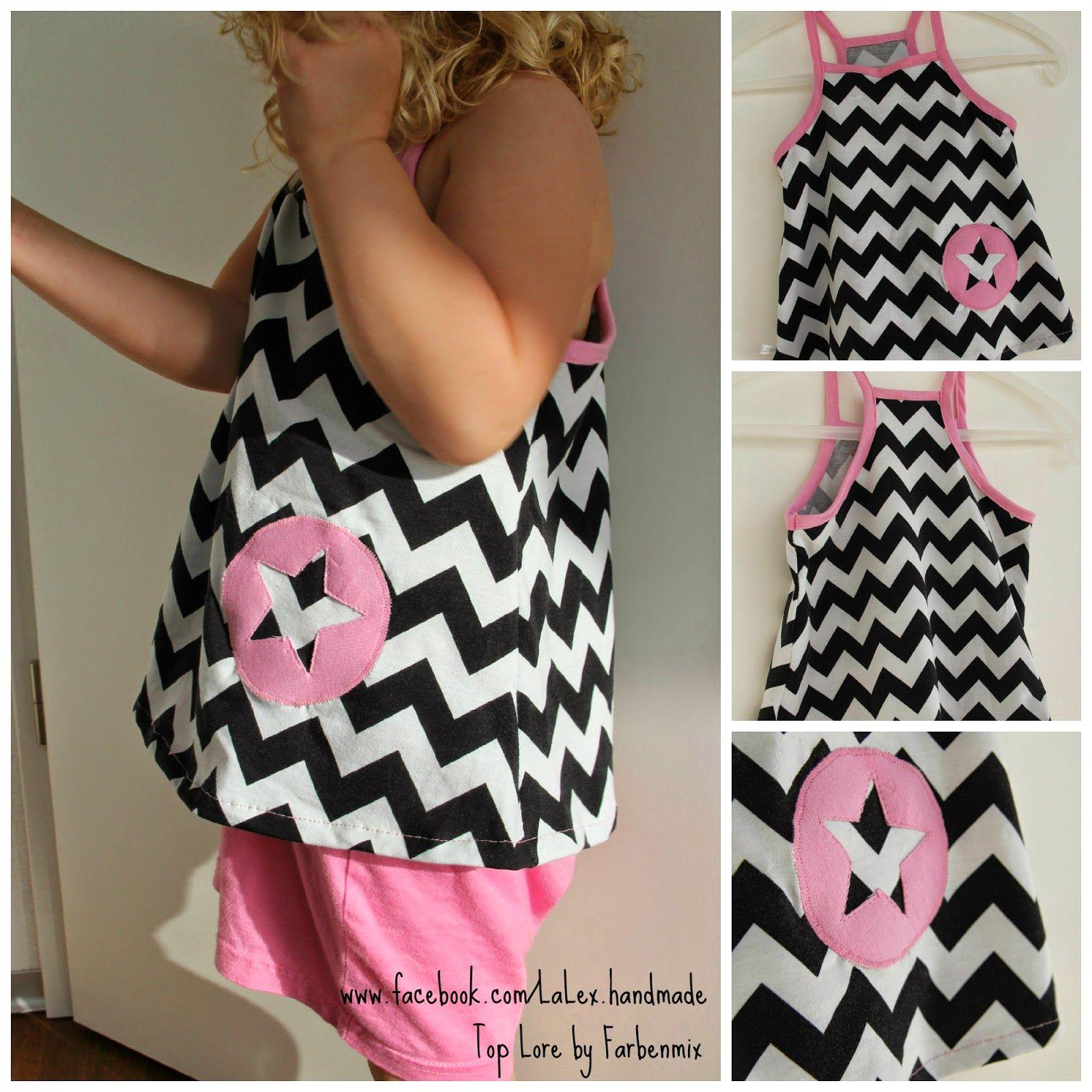 LaLex: Lore top, pattern by farbenmix.de, #sewing #dress #nähen ...