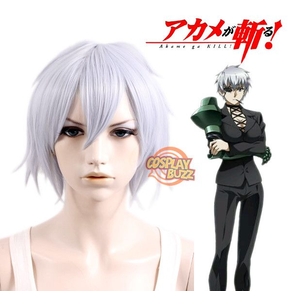 Akame ga Kill! Najenda Short Silver White Anime Cosplay Wig PL452 ... 1d2fbfb860f1