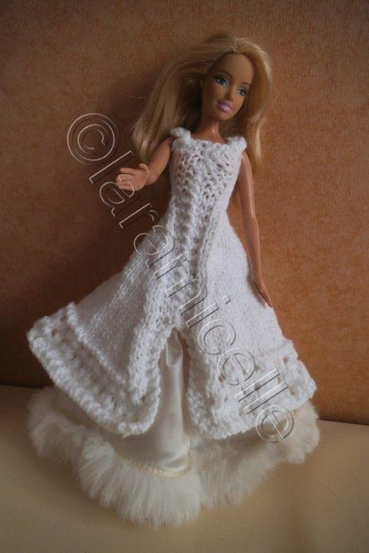 Comment tricoter robe barbie barbie tricot crochet t robe - Barbie mariee ...