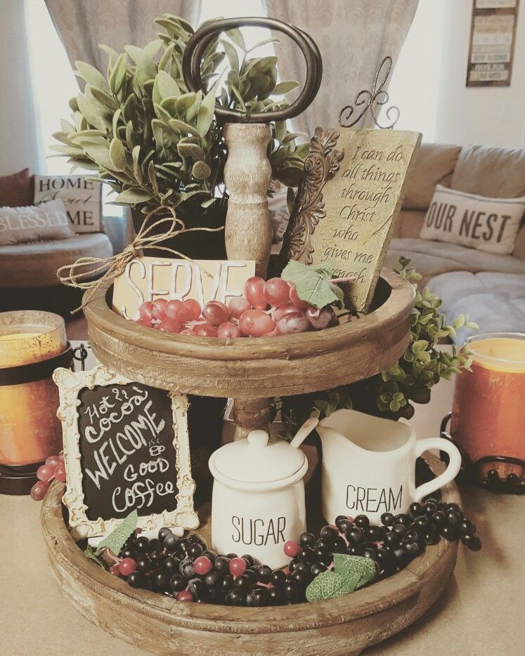 Rustic Farmhouse 2 Tier Tray Adds Warmth To Any Place In