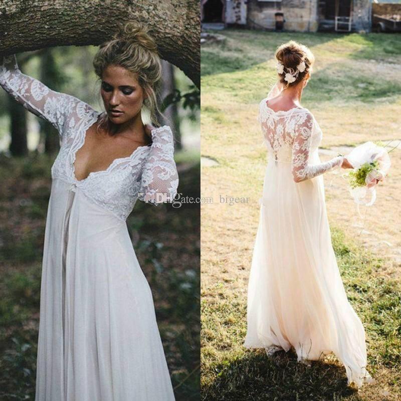 Empire Waist Hippie Wedding Dress
