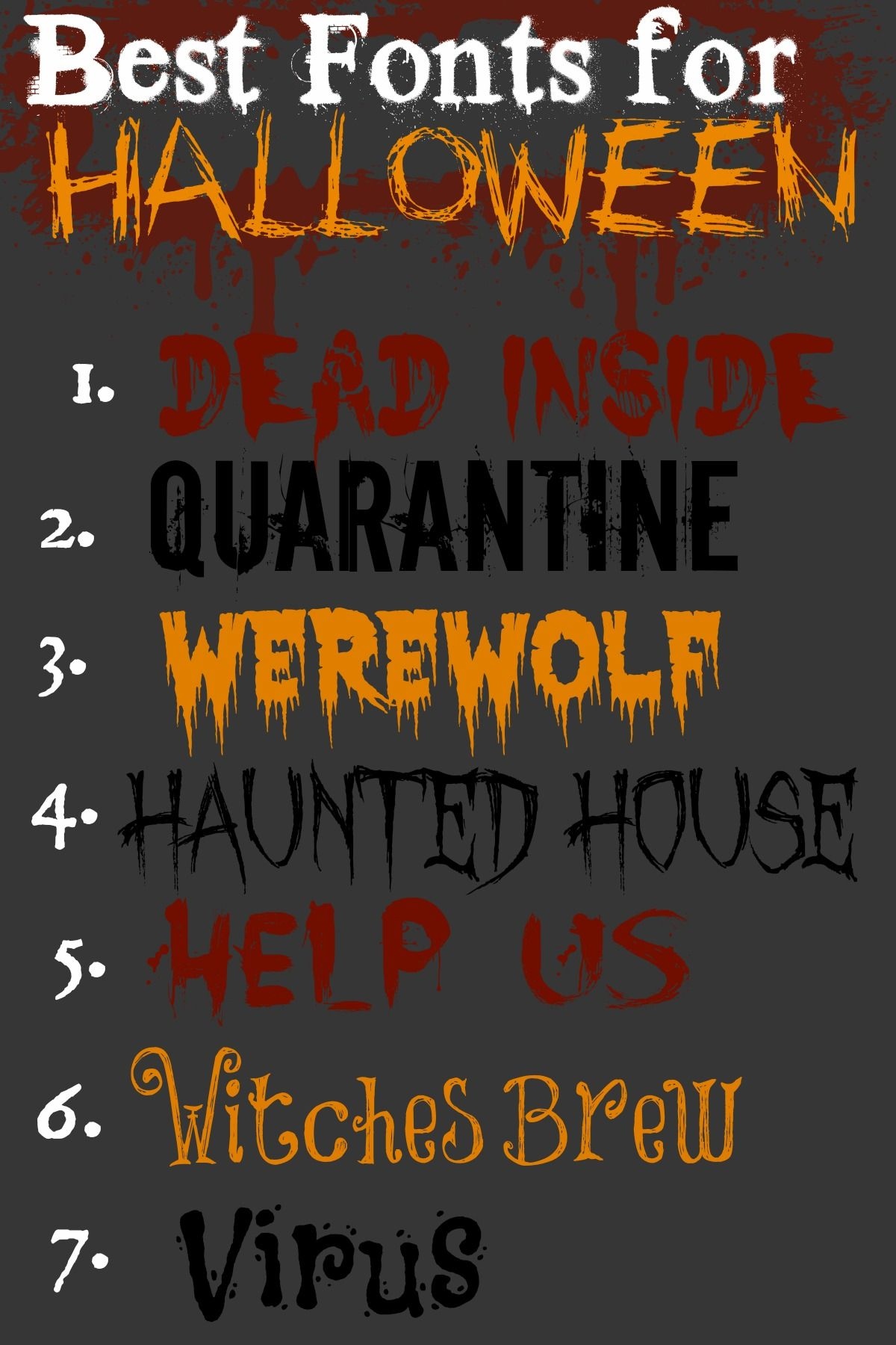 Best Halloween Fonts {free and an easy download link
