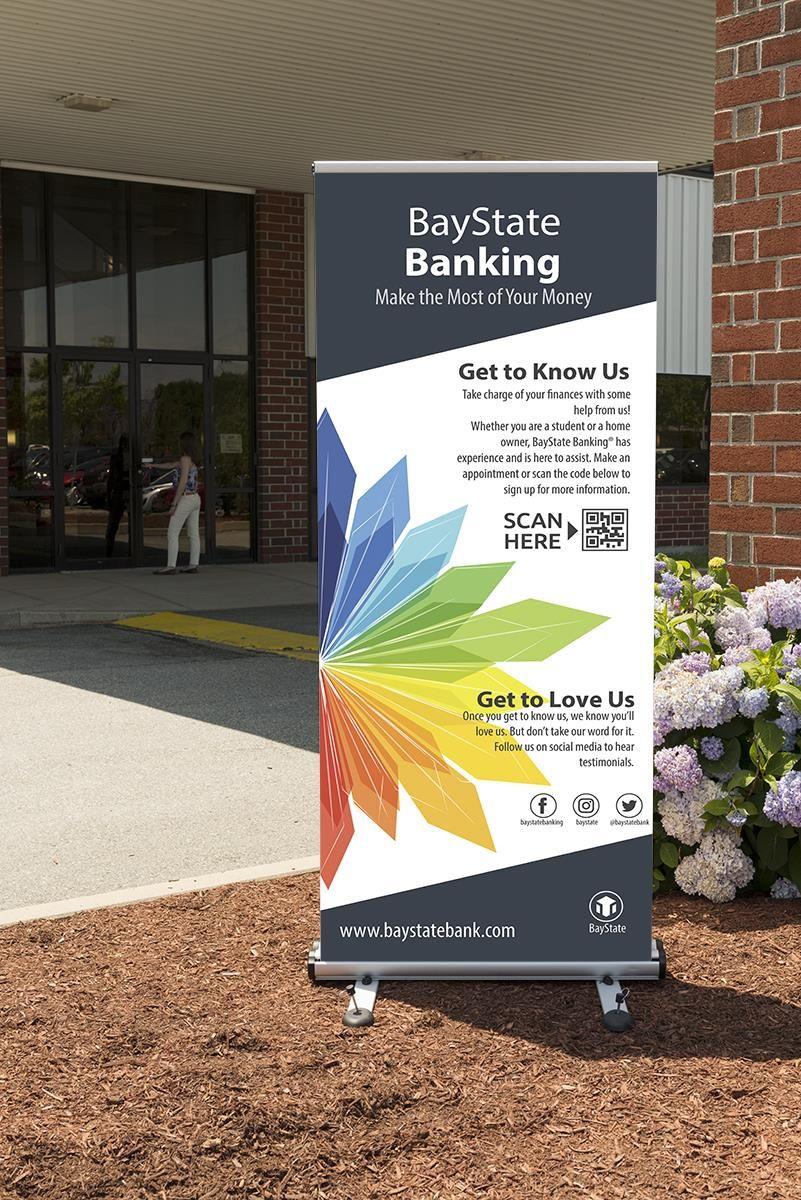 Outdoor Retractable Banner Stand W 2 39 X 79 Custom Graphics Silver Banner Stands Retractable Banner Stand Outdoor Banners