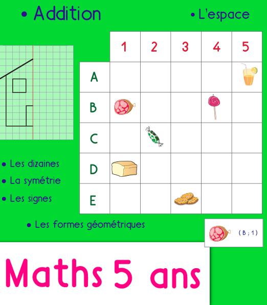 mathematiques grande section maternelle, différentes ...