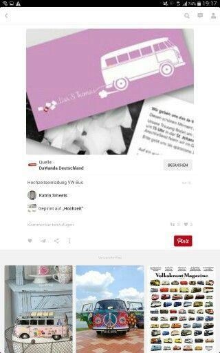 Einladung Hochzeit Bulli Pinterest