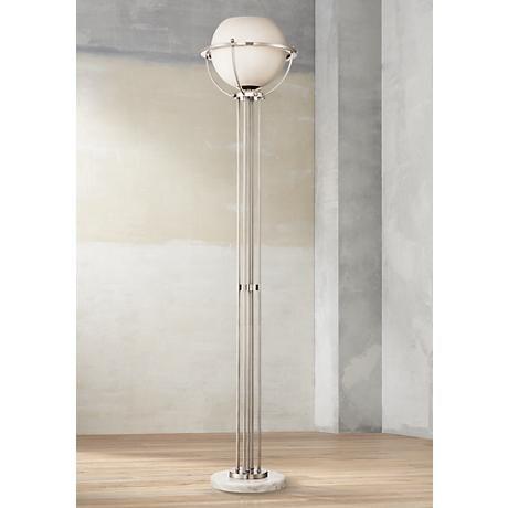 Possini Euro Globe 72 H Brushed Nickel Torchiere Floor Lamp 1g321 Lamps Plus Nickel Floor Lamp Torchiere Floor Lamp Floor Lamp