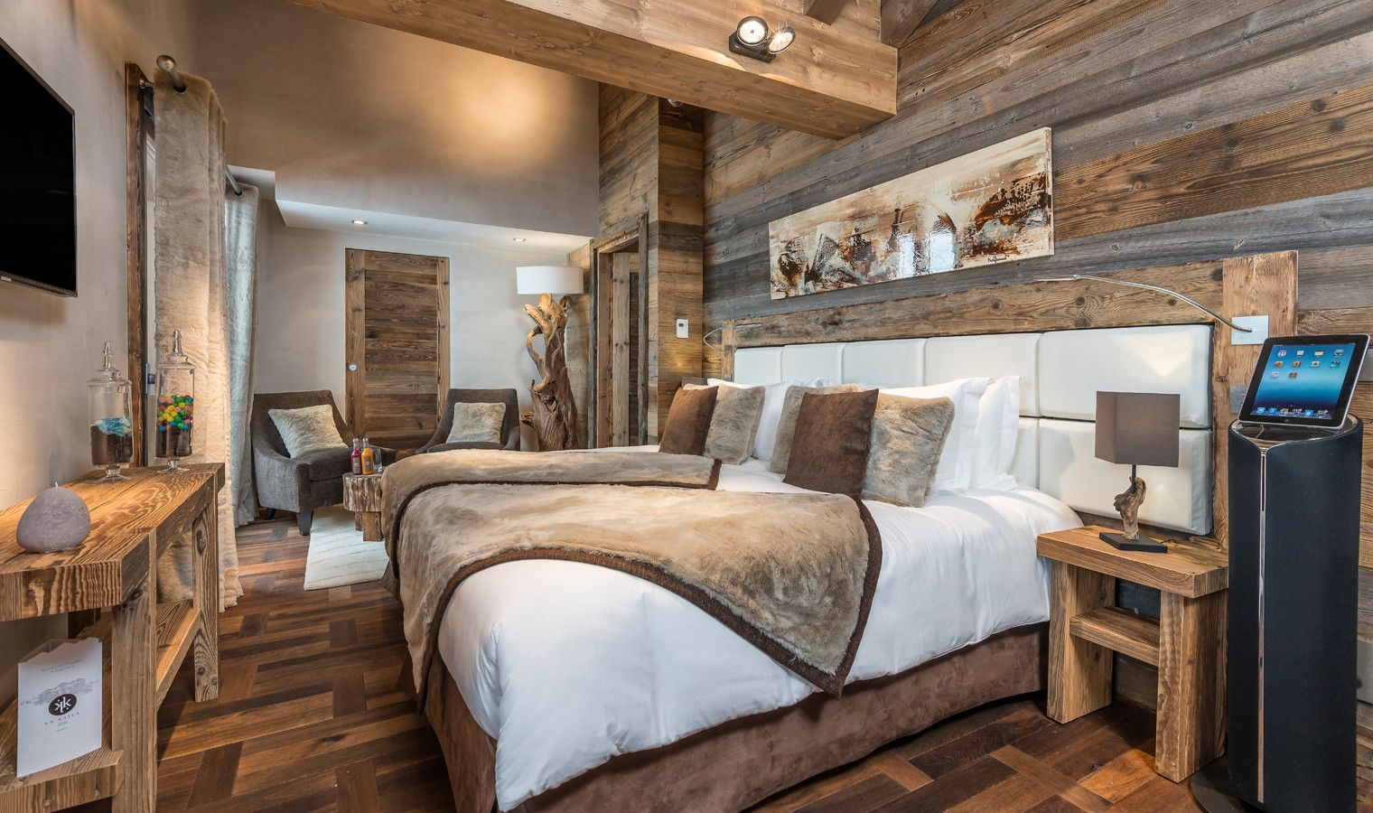 5 star master bedrooms  Le Kaïla  starhotel in Meribel  Home  Pinterest  Alps Spa