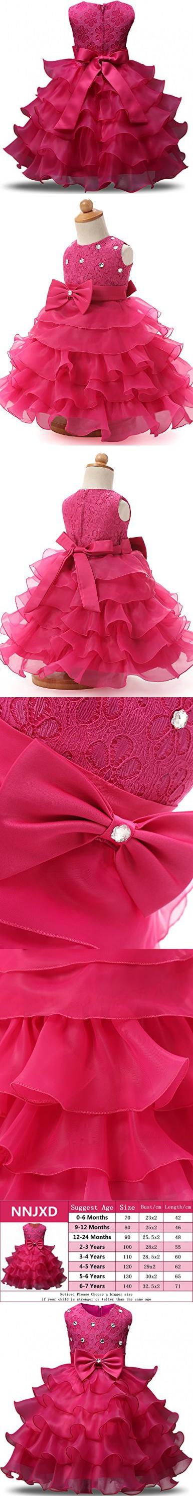 ae5baeceb0e2 Rorychen Baby Girls  Sleeveless Lace Zipper Dress 9 Months Pink ...
