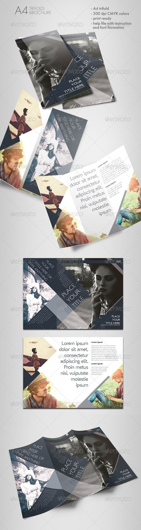 Printable Tri Fold Brochure Template Shaped Trifold Brochure  Brochures Brochure Template And Shapes