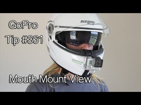 c05e2bcd059 GoPro Mouth Mount View On Motorcycle Helmet - GoPro Tip  361 - YouTube