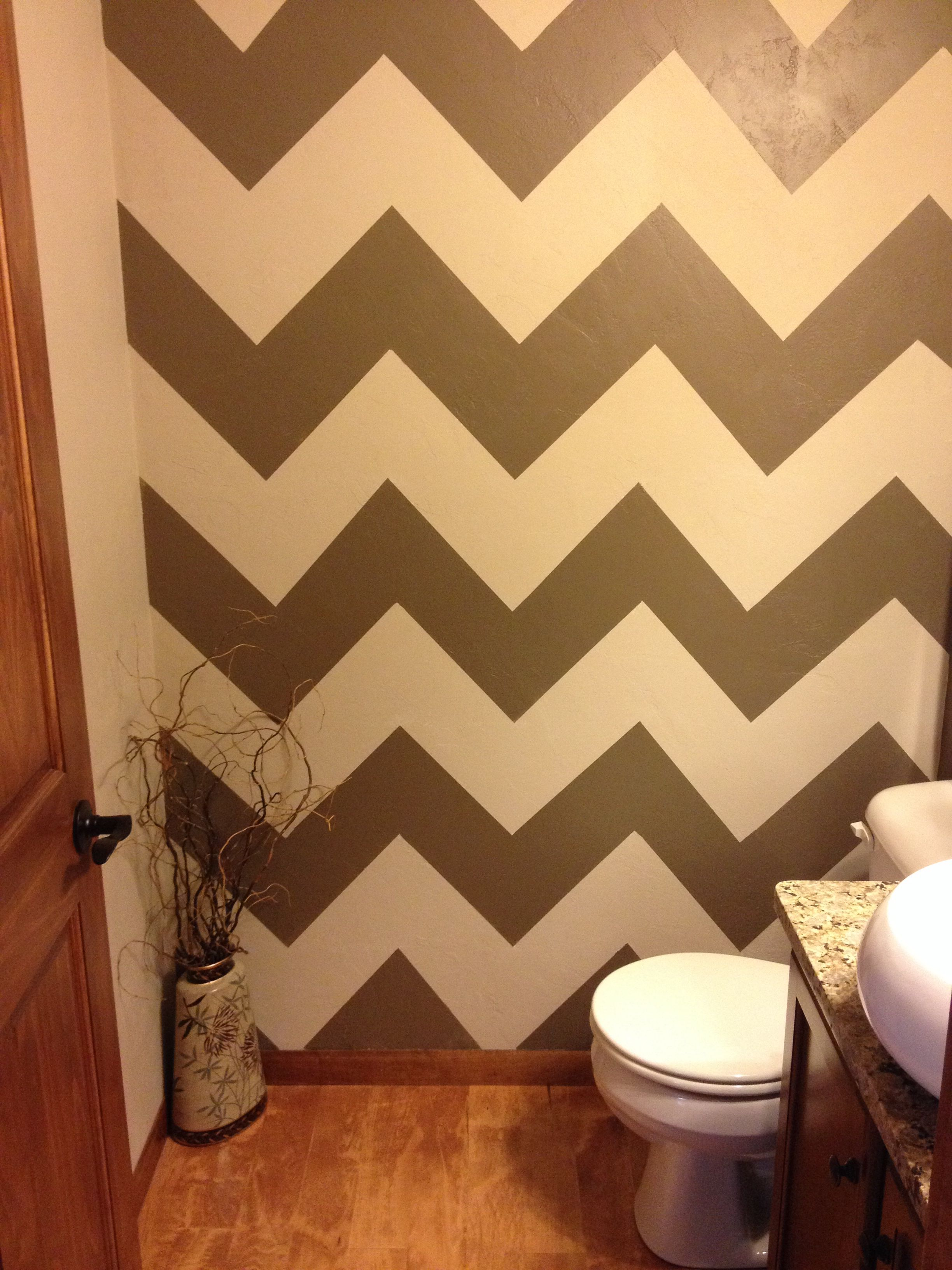 Finished Chevron Stripes In Our