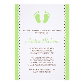 Green little feet baby shower invitation baby feet themed baby green little feet baby shower invitation baby feet themed baby shower ideas pinterest baby foot and baby shower games filmwisefo