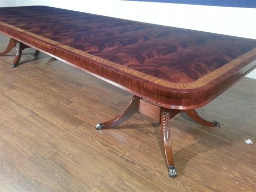 American Made Flaming Mahogany Conference Table Over 13 Ft Long