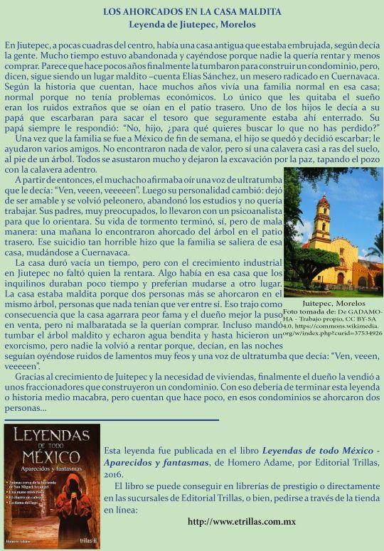 Outstanding Casa Maldita En Morelos 1 Leyenda De Homero Adame Mitos Complete Home Design Collection Papxelindsey Bellcom